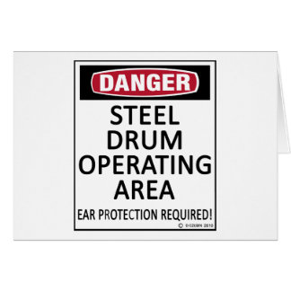 Operating Area Steel Drum Card