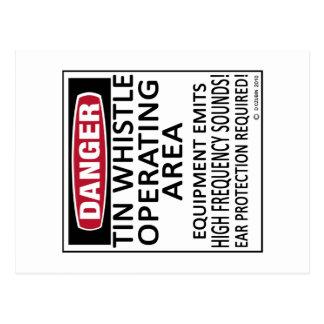 Operating Area Tin Whistle Postcard