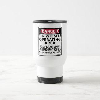 Operating Area Tin Whistle Stainless Steel Travel Mug