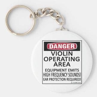 Operating Area Violin Key Ring