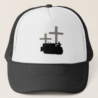 OPERATING ENGINEER BULLDOZER VINTAGE CROSS JESUS TRUCKER HAT