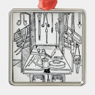 Operating table and surgical instruments, from 'Da Christmas Ornament