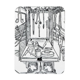 Operating table and surgical instruments, from 'Da Rectangular Photo Magnet