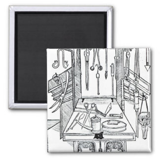 Operating table and surgical instruments, from 'Da Square Magnet