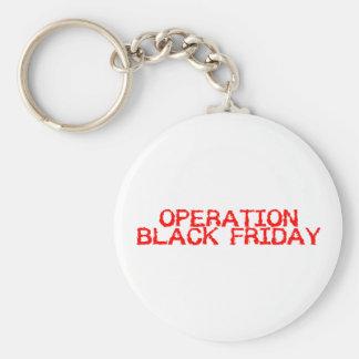 Operation Black Friday Basic Round Button Key Ring