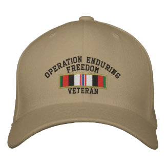 Operation Enduring Freedom Veteran Embroidered Hat