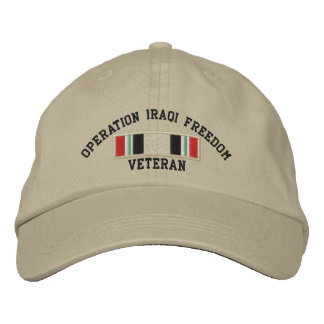 Operation Iraqi Freedom Veteran Embroidered Baseball Caps