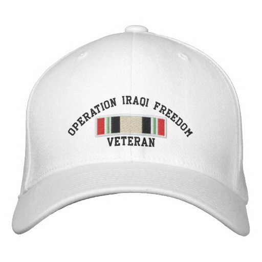 Operation Iraqi Freedom Veteran Embroidered Hats