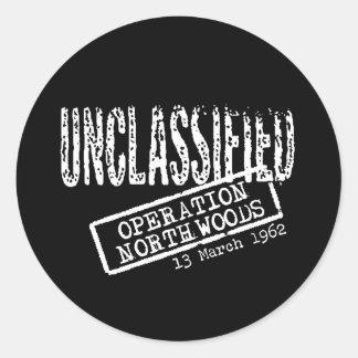 Operation Northwoods Round Sticker