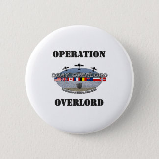 Operation Overlord 1944 6 Cm Round Badge