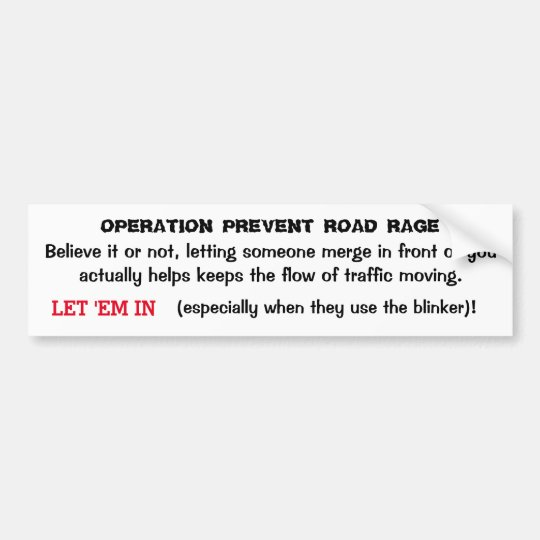 Operation Prevent Road Rage Sticker #3