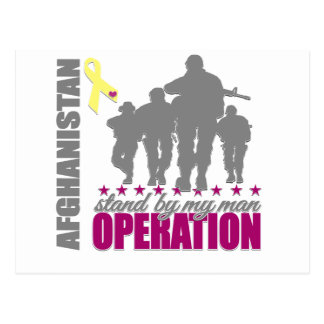 OPERATION,STAND BY MAN MAN AFGHANISTAN POSTCARD