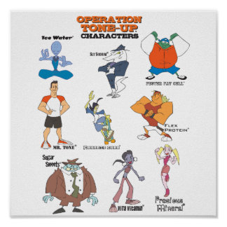 Operation Tone-Up Character Sheet Poster