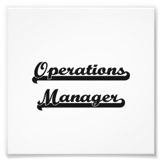 Operations Manager Classic Job Design Photo