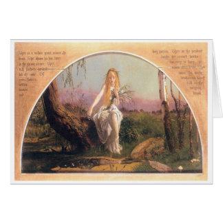 Ophelia, Arthur Hughes, 1852 Greeting Card