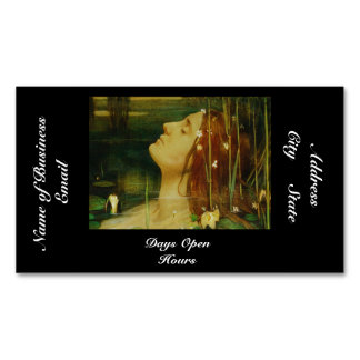 Ophelia Asleep Among Flowers Magnetic Business Cards