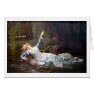Ophelia by Cabanel Greeting Card