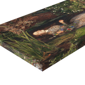 Ophelia by John Everett Millais Canvas Print