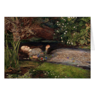 Ophelia by John Everett Millais Card