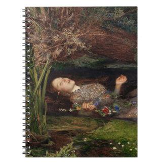 Ophelia by John Everett Millais Notebook