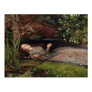 Ophelia by John Everett Millais Postcard