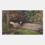 Ophelia by John Everett Millais Rectangular Sticker