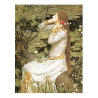 Ophelia By John William Waterhouse Postcard