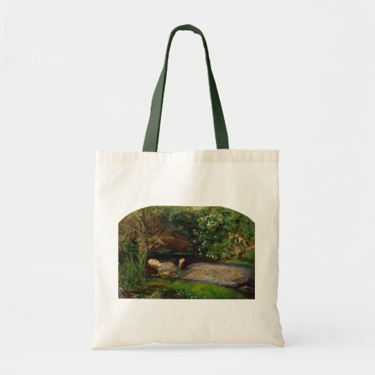 Ophelia by Millais, Tote Bag