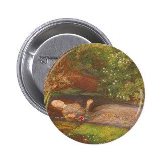 Ophelia by Millais Vintage Victorian Preraphaelite Pin