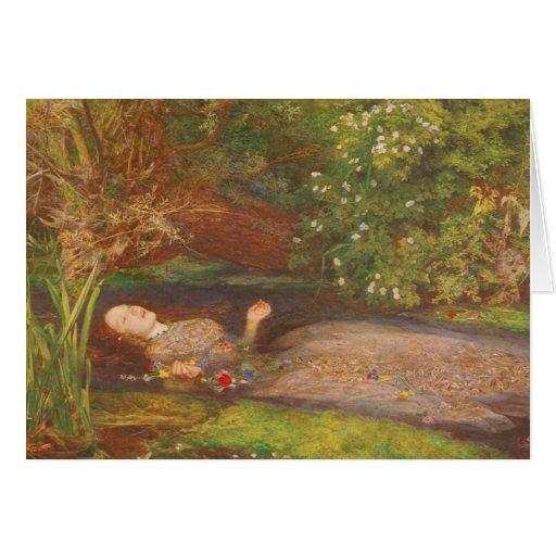 Ophelia by Millais Vintage Victorian Preraphaelite Greeting Card
