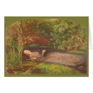 Ophelia by Millais Vintage Victorian Preraphaelite Cards
