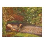 Ophelia by Millais Vintage Victorian Preraphaelite Post Card