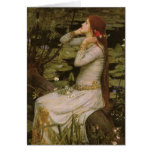 Ophelia (By the Pond) JW Waterhouse, Victorian Art Greeting Card