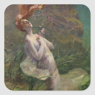 Ophelia Drowning, 1895 Square Sticker
