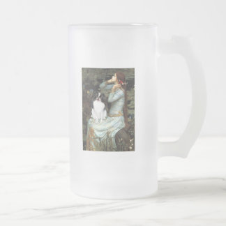 Ophelia - Japanese Chin 2 Frosted Glass Beer Mug
