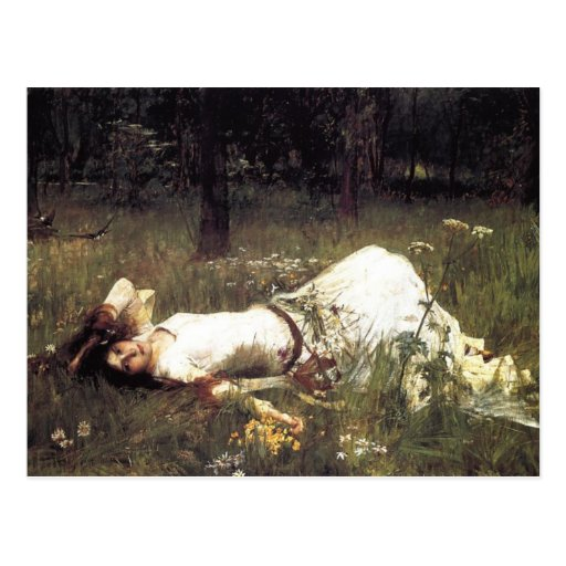 Ophelia Lying in the Meadow Post Cards