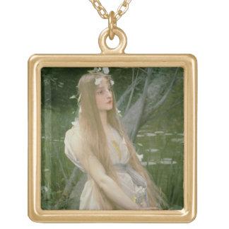 Ophelia (oil on canvas) pendants