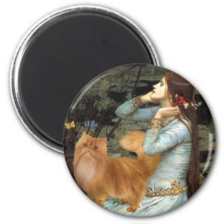 Ophelia - Red Persian cat Refrigerator Magnet