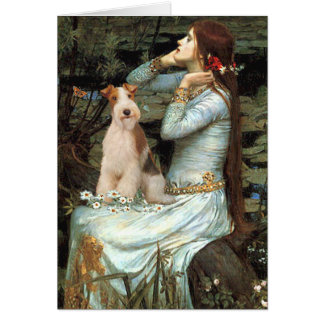 Ophelia Seated - Wire Fox Terrier 3 Greeting Card