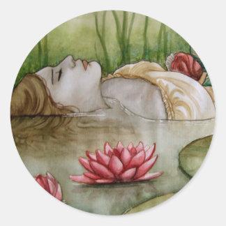 Ophelia Round Sticker