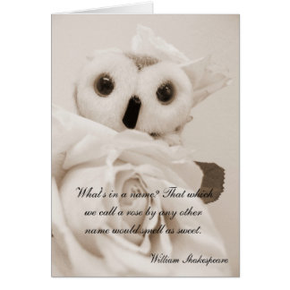 Ophelia - The Romantic Owl Greeting Card