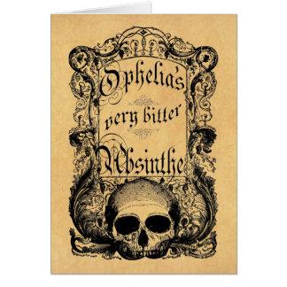 Ophelia's Very Bitter Absinthe Card