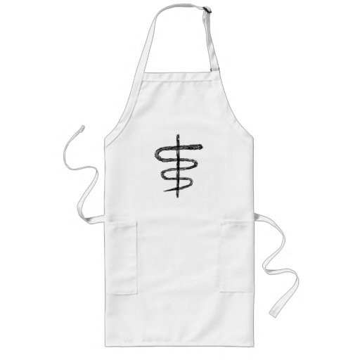 Ophiuchus. Astrological Zodiac Sign. Black. Long Apron