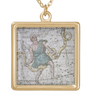 Ophiuchus or Serpentarius, from 'A Celestial Atlas Gold Plated Necklace