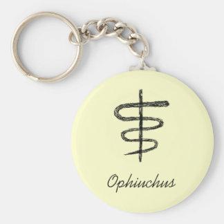 Ophiuchus. Zodiac Sign. Black Sketch. Key Ring