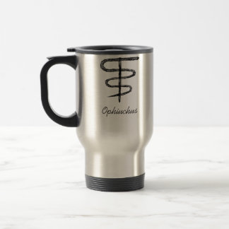 Ophiuchus. Zodiac Sign. Black Sketch. Travel Mug