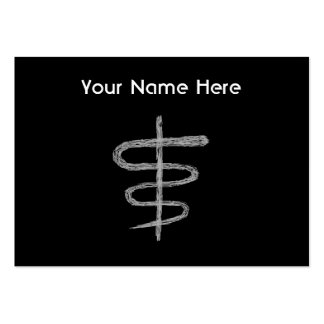 Ophiuchus. Zodiac Sign in Gray. Pack Of Chubby Business Cards