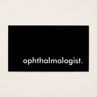 ophthalmologist. business card