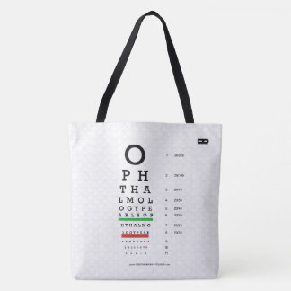 Ophthalmology Pearls Visual Acuity Chart Tote Bag
