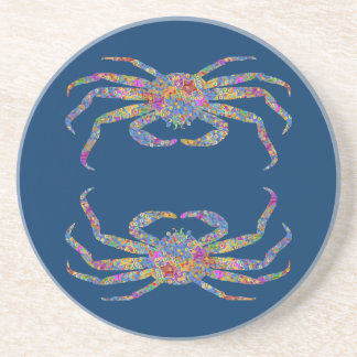 Opilio Crab in Blue With Stars Coasters